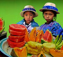 FRUIT STAND - GUATEMALA by Michael Sheridan