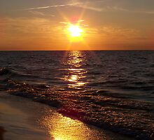 Lake Michigan Sunrise by Michele Markley