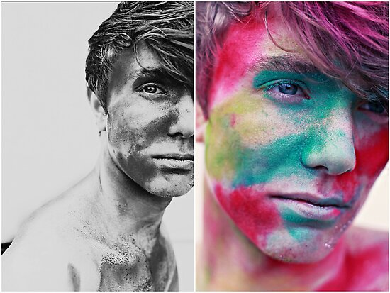 Paint yourself Colourful by Daniyel Lowden