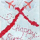 Red Arrows Birthday Card by Blackbird76