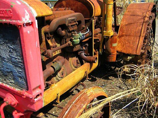 Rusty Tractor by Phil Campus