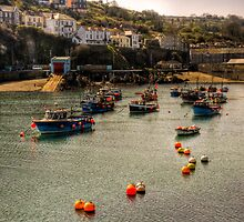 Mevagissey boats by Simon Marsden
