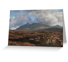 The Coullins Mountain Range, Isle of Skye Greeting Card