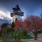 Clocktower of Graz by Delfino