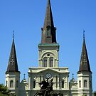 Jackson Square : Jackson Statue And St Louis Cathedral by artisandelimage