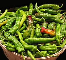 Bushel of Hot Peppers by joAnn lense