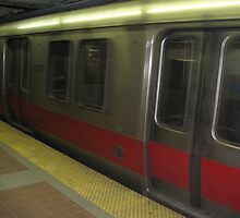Red Line subway Train underground to Braintree/Alewife/ashmont by Eric Sanford