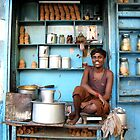Indian tea boy in Kolkata, West Bengal by jihyelee