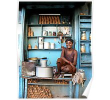 Indian tea boy in Kolkata, West Bengal Poster