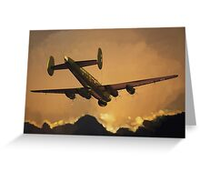 The Old Grey Lady: Avro Shackleton, 8 Squadron, 1990 Greeting Card