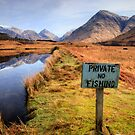 Private, no fishing... Glen Etive by David Mould