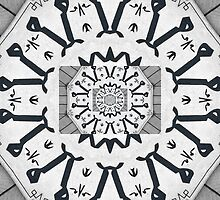 Black and white pattern 3 by rhallam