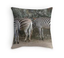 Stripey bottoms Throw Pillow
