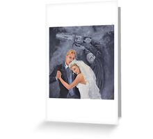 Ken and Barbie's Chainsaw Wedding Extravaganza Greeting Card