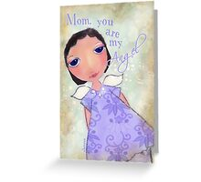 mom, you are my angel Greeting Card