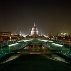 View across the Millennium Bridge to St. Paul's. by Peter Stone