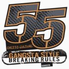 55 Gangsta Style T-Shirt by jay007
