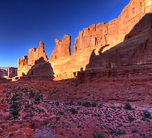 Park Avenue Arches National  Park, Utah by Justin Baer