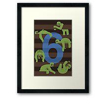Six Slovenly Sloths Framed Print