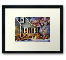 Christmas - A family moment - painted Framed Print