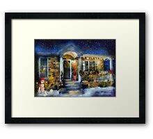 Christmas - Dressed up for the holidays - painted Framed Print
