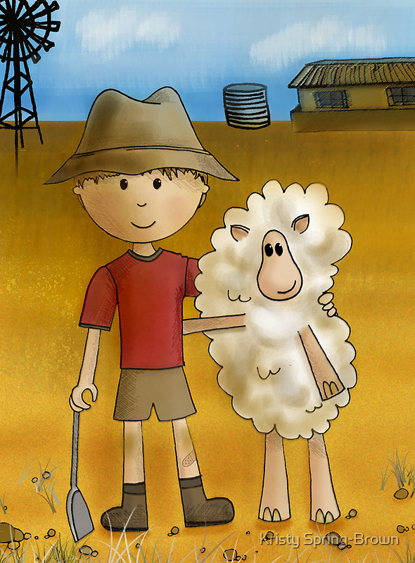 Boy in the Outback by Kristy Spring-Brown