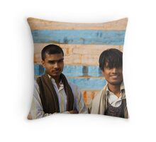Fragments of Richness: An Indian Expose - curious eyes Throw Pillow