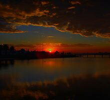 Lakes Entrance Sunrise by John Vandeven
