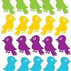 Vintage Little Birds Print by planespotting