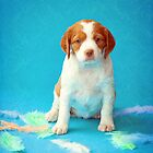 Brittany Puppy by Helen Green