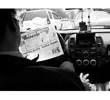 Mobile News Reader Photographic Print