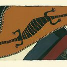 Travelling Goanna by Pat Saunders-White
