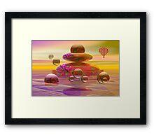 The balloon trip Framed Print