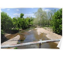 Turnback Creek Flowing under Route 66 Poster