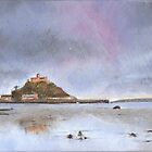 St Michael's Mount at low tyde by Ben Durrant