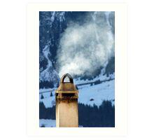 Chimney in the Alps, Switzerland Art Print