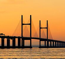 Severn Bridge at Sunset by buttonpresser