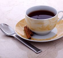 Morning Tea with Cinnamon Sticks by RandiScott