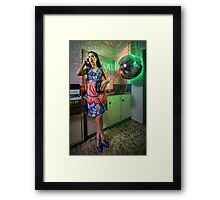 ATTACK OF THE MUTANT DISCO BALL!!! Framed Print