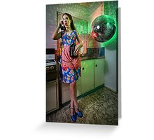 ATTACK OF THE MUTANT DISCO BALL!!! Greeting Card