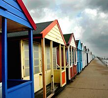Southwold Beachhuts by Trevor Durrant