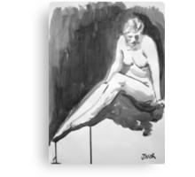 figure on waters edge 2 Canvas Print