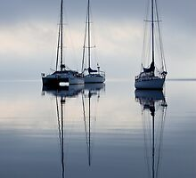 Anchored - Eastern Beach Geelong by Graeme Buckland