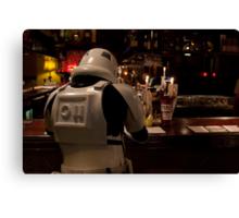 Stormtrooper and a Bar Canvas Print