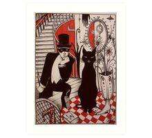 Murder At The Black Cat Bar Art Print