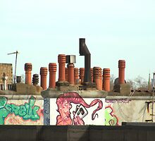 Rooftop Graffiti by John Thurgood