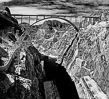 Bridge Over Hoover Dam by MClementReilly