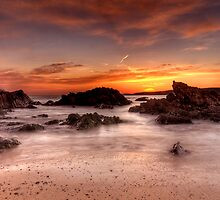 Sunset At Freshwater West by Mark Robson