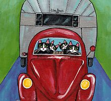 Cats Going Camping by Ryan Conners