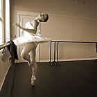 Ballerina in sepia by Larry  Grayam